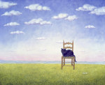 The Chair Cat giclee art print