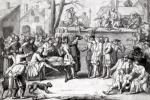 The Election of the Militia at the Parish of Authon 1688 giclee art print