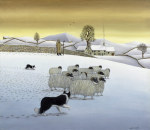 The Fells in Winter, 1984 giclee art print