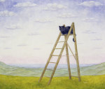 The Ladder Cat giclee art print