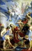 The Stoning of St. Stephen from the Triptych of St. Stephen giclee art print