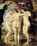 The Three Graces, c.1636 giclee art print
