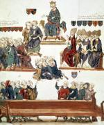 The Trial of Robert d'Artois Count of Beaumont 1331 giclee art print
