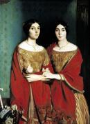 The Two Sisters 1843 giclee art print
