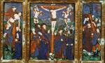 Triptych depicting the Crucifixion Limousin giclee art print