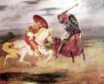 Two Knights Fighting in a Landscape c.1824 giclee art print