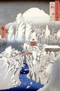 View of Mount Haruna in the Snow giclee art print