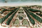 View of the Jardin des Plantes from the Cabinet d'Histoire Naturelle giclee art print