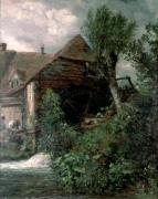 Watermill at Gillingham, Dorset giclee art print