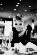 Audrey Hepburn (Breakfast at Tiffany&#39;s B&amp;W) art print