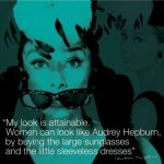 Audrey Hepburn (Quote) art print