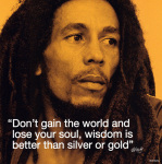 Bob Marley (I.Quote - Wisdom) art print