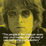 John Lennon (I.Quote - Clap Your Hands) art print