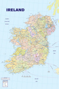 Map of Ireland art print