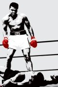 Muhammad Ali (Gloves) art print