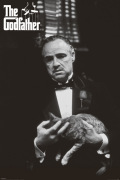 The Godfather (Cat B&W) art print