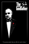 The Godfather (Red Rose) art print