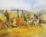 Autumn Colours, Tuscany giclee art print