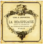 Beaujolaise Wine Label giclee art print