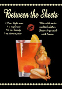 Between the Sheets Cocktail giclee art print