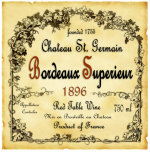 Bordeaux Wine Label giclee art print