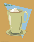 Cafe Late giclee art print
