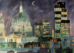 City at Night giclee art print