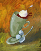 Dancing Coffee giclee art print