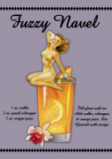 Fuzzy Navel Cocktail giclee art print