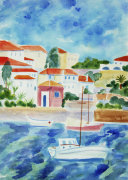 Greek Harbour giclee art print