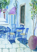 Greek Taverna giclee art print