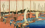 Mouth of Ajikawa, Osaka giclee art print