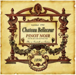 Pinot Noir Wine Label giclee art print