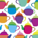 Retro Teapots giclee art print