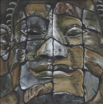 Stone Faces of Bayon, Cambodia giclee art print