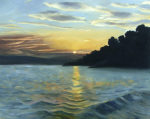 Sunset at the Bay giclee art print