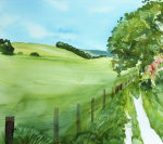 Sussex Fields giclee art print