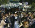 Ball at the Moulin de la Galette, 1876 (Detail) giclee art print