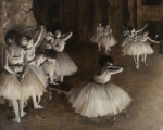 Ballet rehearsal giclee art print
