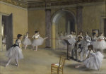 Ballet room at the opera in Rue Le Peletier giclee art print