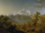Mount Blanc as seen from Sallenches giclee art print