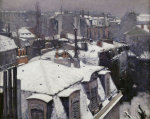 Rooftops in the snow giclee art print