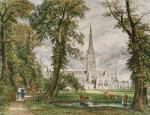 Salisbury Cathedral (Restrike Etching) art print