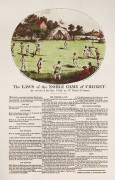 The Rules of Cricket (Restrike Etching) art print