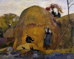 The yellow haystacks giclee art print