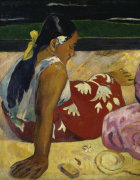 Women of Tahiti, On the Beach, 1891 (Detail) giclee art print