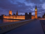 England,London,Westminster bridge at night giclee art print