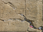 Notes in crevice of Wailing Wall, full frame, Jerusalem, Israel giclee art print