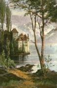 Castle of Chillon (Restrike Etching) art print