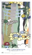 Water Lilies with Japanese Bridge art print
